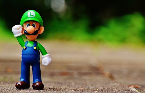 Luigi,figūra,žaisti,Nintendo,super,retro,klasikinis,kompiuterinis žaidimas,charakteris,animacinis filmas,video,Žaidimų konsolė,laimingas,video žaidimas,super mario bros,marios brolius luigi,grybų karalystė,Nintendo pramogų sistema,Nes,arkadinis žaidimas