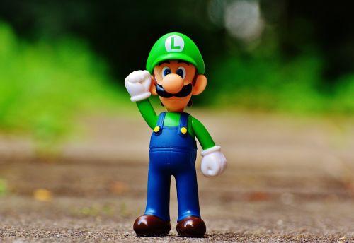 Luigi,figūra,žaisti,Nintendo,super,retro,klasikinis,kompiuterinis žaidimas,charakteris,animacinis filmas,video,Žaidimų konsolė,laimingas,video žaidimas,super mario bros,marios