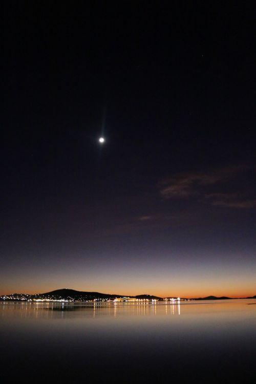 mėnulis, aušra, uostas, veidrodinis, albany, Mėnulio aušra