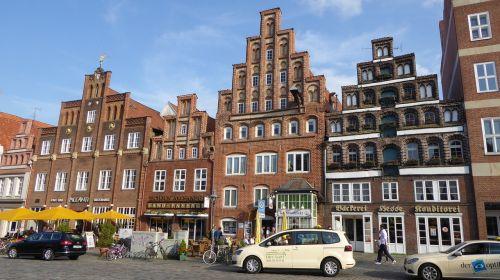 Lüneburg, Namai Fasadai, Seni Namai, Istoriniai Namai, Plyta Gotika, Hanzos Miestas, Namo Fasadas