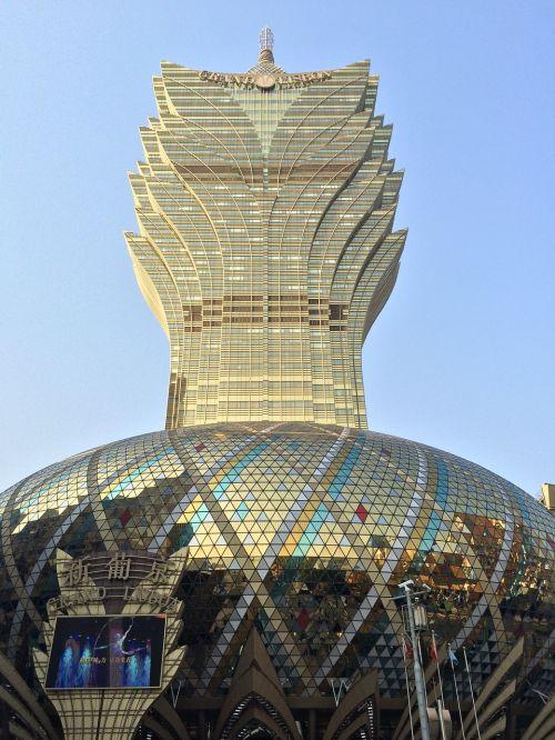 Macau,azartiniai lošimai,stiklas,architektūra