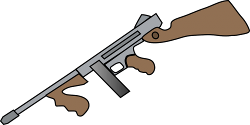 kulkosvaidis,pistoletas,Thompson automatinis pistoletas,automatinis ginklas,šautuvas,rankos,puolimas,šautuvas,automatinis pistoletas,nemokama vektorinė grafika