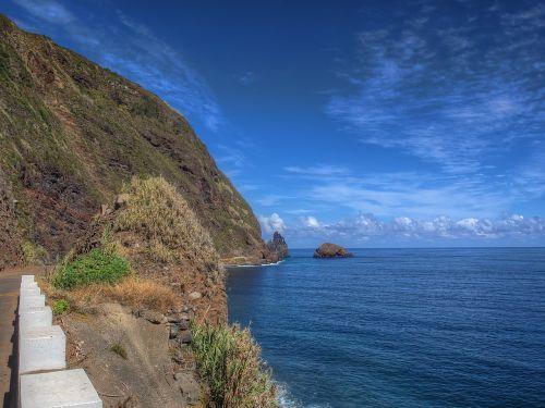 Madeira,bučiniai,jūra,Rokas,vandenynas,uolos pakrantė,vanduo,атлантический,gamta,kraštovaizdis,sala,portugal,žygis,uolos,uolos,šventė,ežeras,vasara,dangus,naršyti,mėlynas,gėlių sala,banga,purkšti,akmens pakrantė,steinig