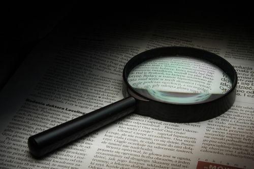 didintuvas,laikraštis,istorija,stiklas,optika,stebėjimas,priartinti