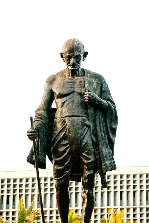 Mahatma Gandhi,statula,bronza,Indija,Indijos,istorija,paminklas,lyderis