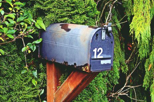 pašto dėžutę,numeris,dvylika,pašto dėžutės,pašto dėžutė,ištemptas,metalas,senas,pranešimas,raidės,dėžė,pašto dėžutė,pašto dėžutė,gamta,krūmai