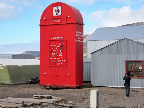 pašto dėžutę,Kalėdos,Kalėdų Senelis,kalėdinis postas,linkiu jums,troškimas,Šiaurė,spitsbergenas,Norvegija