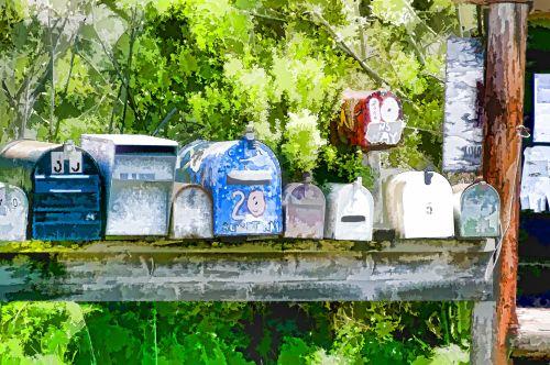pašto dėžutės, paštas & nbsp, pašto dėžutę, paštas & nbsp, dėžutės, Paštas, spalvinga, meno, menas, tapybos, mielas, Šalis, kaimas, Laisvas, viešasis & nbsp, domenas, pašto dėžutės 2