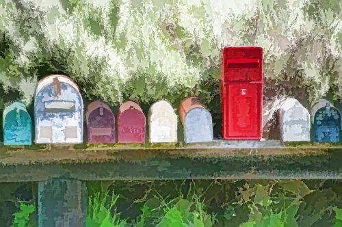 pašto dėžutės, paštas & nbsp, pašto dėžutę, paštas & nbsp, dėžutės, Paštas, spalvinga, meno, menas, tapybos, mielas, Šalis, kaimas, Laisvas, viešasis & nbsp, domenas, pašto dėžutės 3