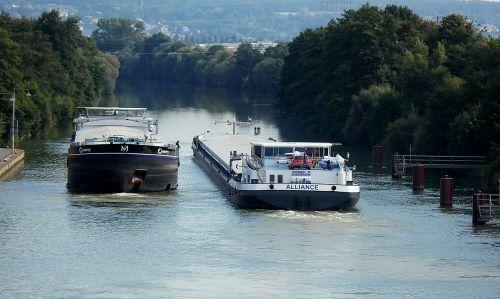pagrindinis duobutės kanalas,krovininiai laivai,nuo eismo,laivyba,transportweg,vandens kelias,hausen,bavarija