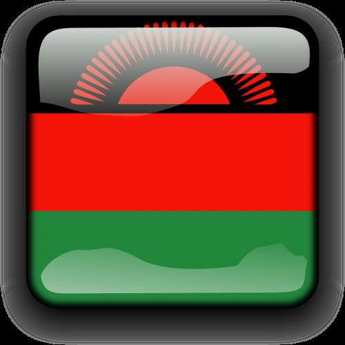 Malavis,vėliava,Šalis,Tautybė,kvadratas,mygtukas,blizgus,nemokama vektorinė grafika