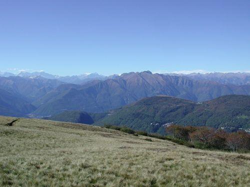 Malcantone, Šveicarija, Ticino, Alpių, Kalnai