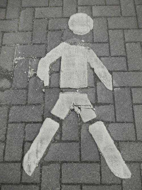 vyras,asfaltuotas,pėsčiųjų,toli,eismas,piktograma