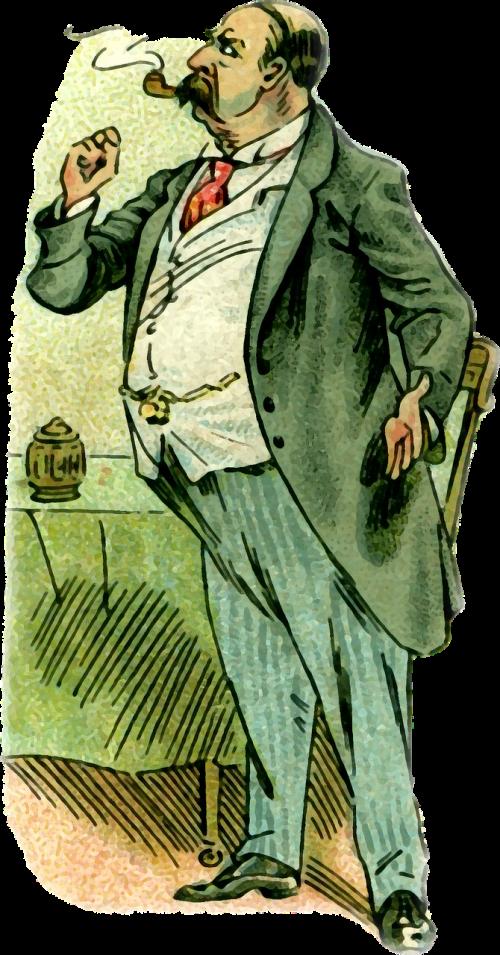 vyras,senyvo amžiaus,rūkymas,dūmai,vamzdis,juokinga,vintage,juokinga,iliustracija,skaidrus fonas,png
