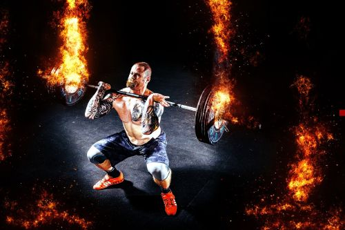 vyras,raumenys,sunkumų kilnotojas,stiprus,jėga,žmogus,jėga,Sportas,Ugnis,liepsna