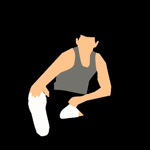 vyras,fitnesas,Sportas,ištempimas,žaisti,Iliustracijos,lipdukas
