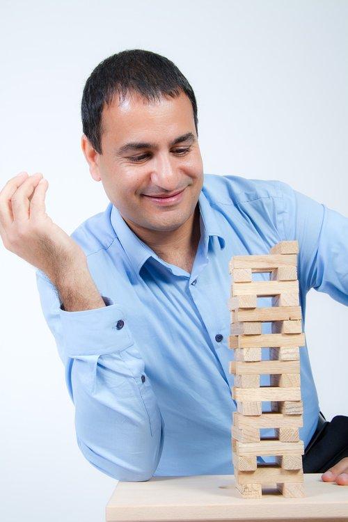 vyras, verslo, sėkmė, bokštas