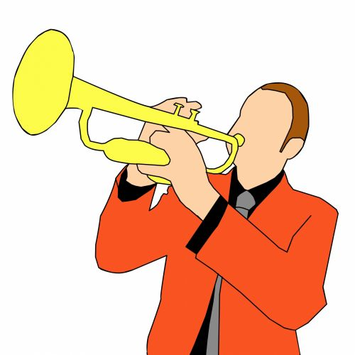 trimitas, muzika, žaidėjas, menininkas, vakarėlis, klubas, šokiai & nbsp, muzika, žmogus groja muziką