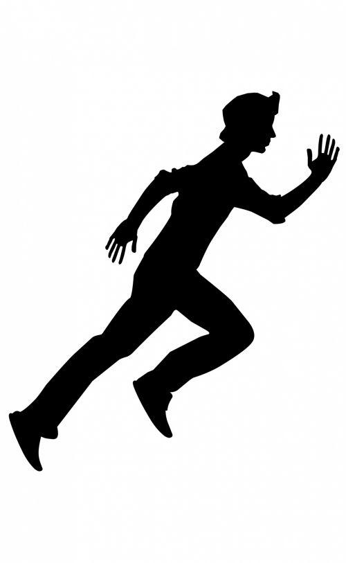 siluetas, pratimas, bėgimas, pozicija, šešėlis, veiksmas & nbsp, energija, vyras, žmonės, izoliuotas, Sportas, vyras veikia