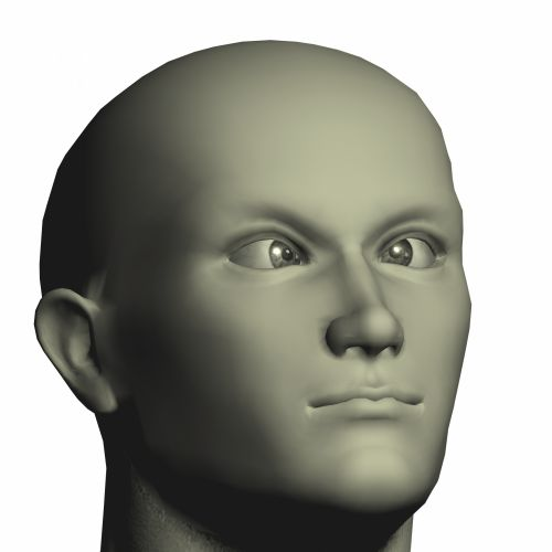 Patinas, nuplikęs, Manekenas, kirto, akys, kreivas, galva, pilka, modelis, portretas, žmogus su kryžiaus akimis