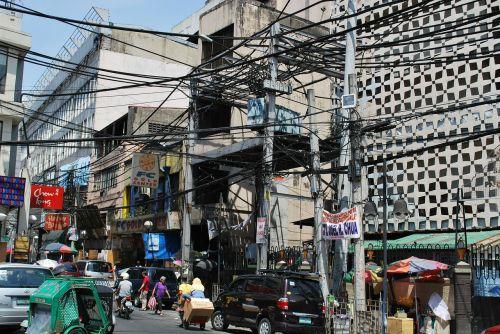 Manila,kabelinės salotos,maitinimo kabelis,maitinimas