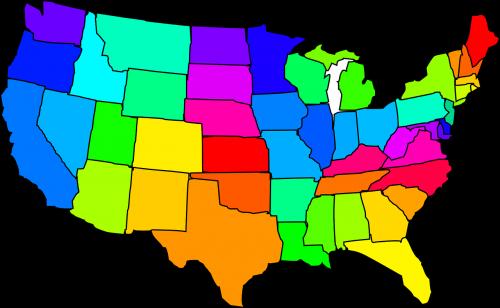 žemėlapis,Jungtinės Valstijos,usa,amerikietis,valstijos,nemokama vektorinė grafika