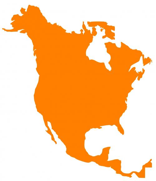 žemėlapis,Šiaurės Amerika,žemynas,nemokama vektorinė grafika