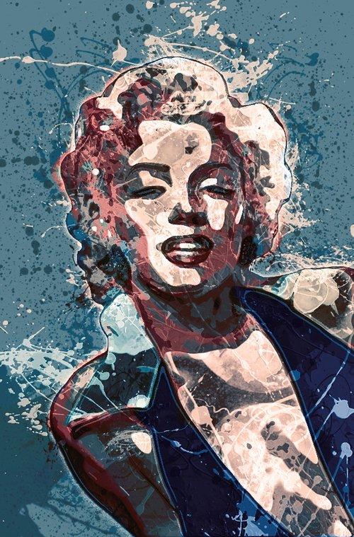Marilyn Monroe, Aktorė, Amerika, JAV, Grožio, moteris, Celebrity, modelis, Moteris, 1950, sekso simboliu, menas, Anotacija, tapyba, Abstraktus menas, išraiškingas, modernus menas, modernus, vaizdo, Nemokama iliustracijos