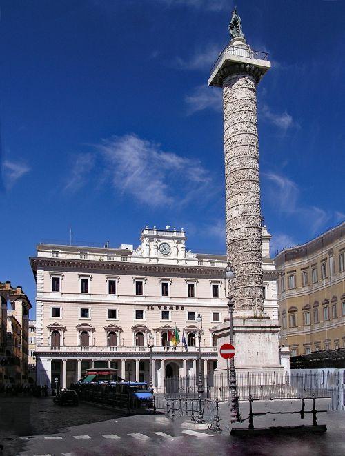 mark-aurel-ramstis,piazza colonna,marcus ramstis,Roma,italy,Europa,senovė,romanai,Romos imperija,architektūra,imperatorius