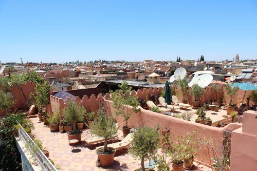 marrakechas,riad,Senamiestis,saulės terasa,gultuose,afrika,Šiaurės Afrika,Marokas,šventė,kelionė,atsigavimas,vaiduoklis,saulė