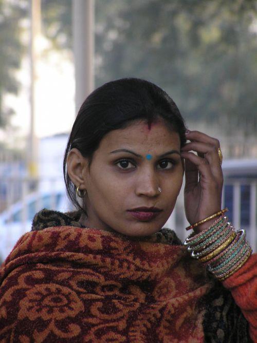 Indija, Indijos, moteris, gražus & nbsp, moteris, ištekėjusi Indija moteris