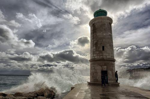 marseille,jūra,bangos,švyturys,senas uostas,uostas,Viduržemio jūros,į pietus nuo Prancūzijos,uostas,senas uostas,vandenynas
