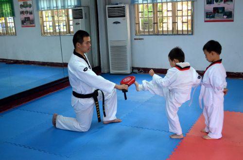 kovinis, menai, klasė, traukinys, mokymas, karatė, kungas & nbsp, fu, Taekwondo, mokytis, smūgis, kovos menai 2