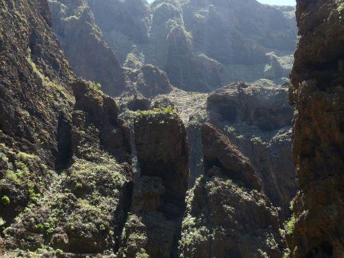 maska ravis,rieduliai,Rokas,Gorge,žygis,Tenerifė,Kanarų salos,kalnai,Teno kalnai