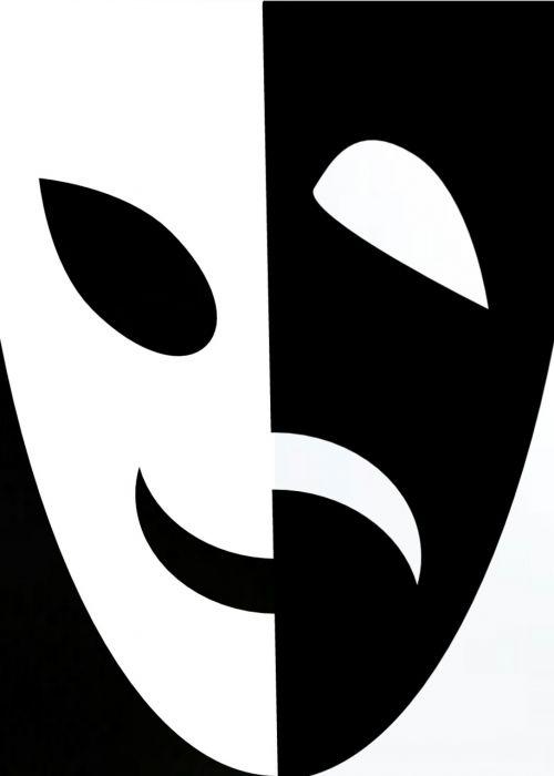 kaukė,juoda,balta,laimingas,liūdnas,veidas,kaukes,teatras,priešingas,juoda ir balta,ir juoda balta,veidai,šypsena,šypsosi,laimė,linksmas,linksma,džiaugsmas,išraiška,liūdesys,gedulas,liūdnas veidas,juoda ir balta,emocija