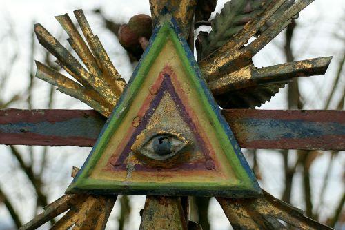 masoninis,simbolis,korona,trikampis,akis,apvaizdos akis,visi matantys akis,Dievo akys