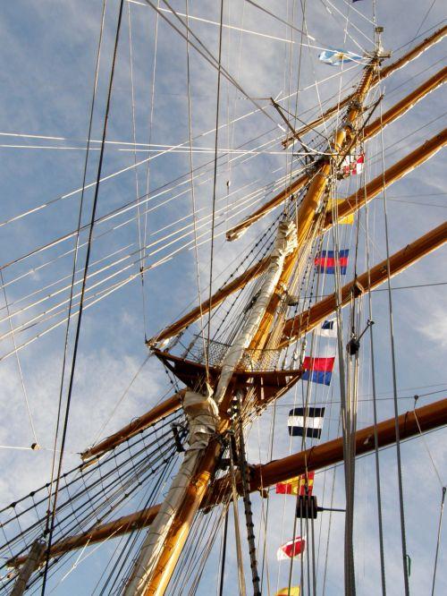 stiebas, fregatas, vėliavos, vanduo, jūra, vandenynas, dangus, logotipai, laivas, lynai, argentina, laisvė, stiebas