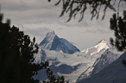 matterhorn,chandolinas,matterhorn,kalnas,Europa,vakaras,aukščiausiojo lygio susitikimas