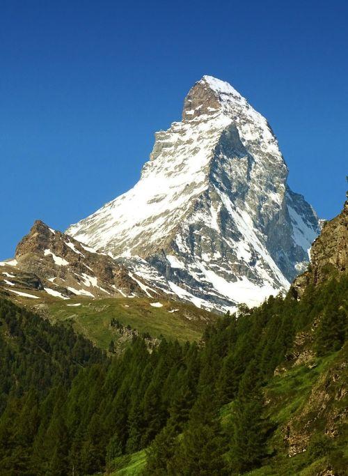 Matterhorn, Kalnas, Zermatt, Šveicarija