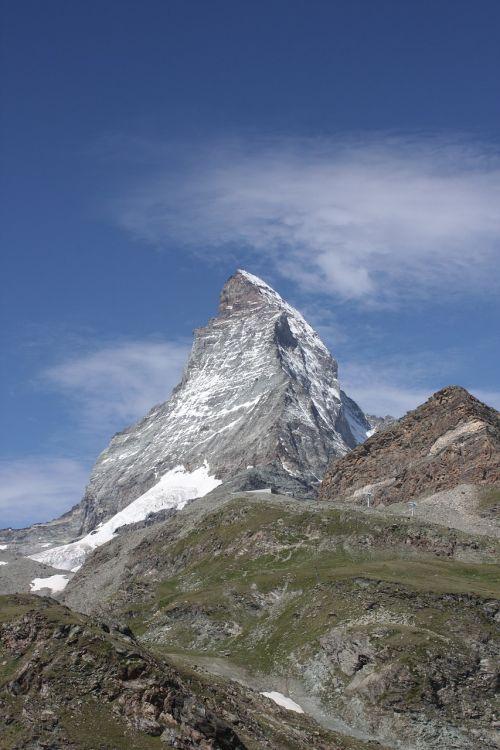 Matterhorn, Zermatt, Šveicarija, Orientyras