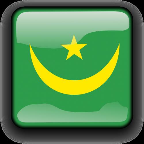 Mauritanija,vėliava,Šalis,Tautybė,kvadratas,mygtukas,blizgus,nemokama vektorinė grafika