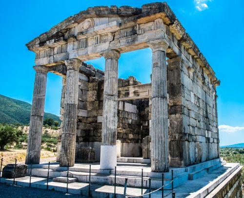 mauzoliejus,senoji messini,Archeologinis saitas,Graikija,Senovės Graikija,griuvėsiai,paminklas,šventykla