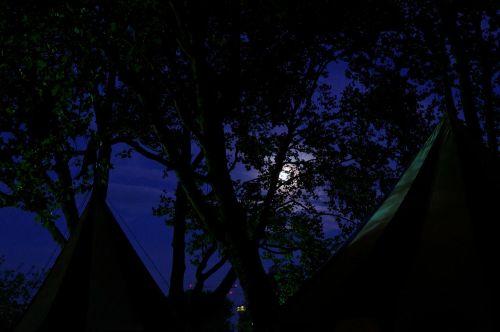 viduramžių rinka,armijos stovykla,palapinės,trejetas,mėnulis,naktį