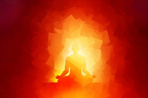 meditacija, dvasinis, šviesa, švytėjimas, auksinis, religinis, gyvenimas, meditacija