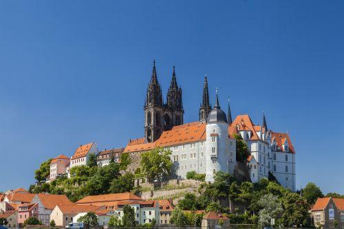 Meissen, Miestas, Pilis, Dom, Bažnyčia, Pilies Kalnas, Vokietija, Elbe, Saksonija, Bokštai, Upė, Rytinė Vokietija