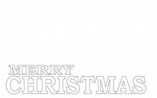 žodžiai, linksmas, Kalėdos, kontūrai, menas, dažymas, sluoksniai, linksmas Kalėdų spalvos puslapis