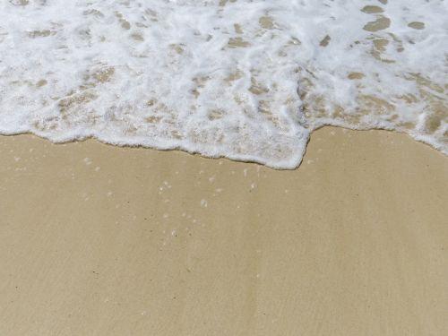 smėlis, putos, balta, naršyti, butas, tan, pranešimas, pranešimas smėlyje