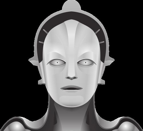 metropolis,mary,metropolis maria,robotas,filmai,roboto filmas,moteriškas robotas,Sf filmai,veido,mašina,ateitis,mokslinė fantastika,nemokama vektorinė grafika