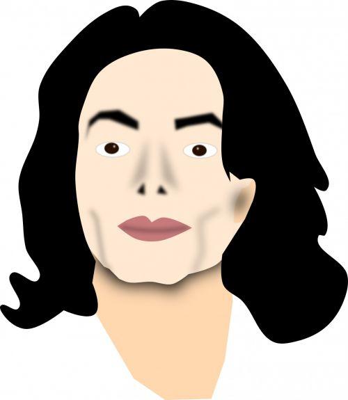 Michaelis & nbsp, Džeksonas, veidas, garsenybė, žinomas, vektorius, plastmasinis, chirurgija, kosmetika, Iliustracijos, dainininkė, muzikantas, šokėja, michael jackson vector