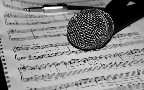 mikrofonas, muzika, rezultatas, daina